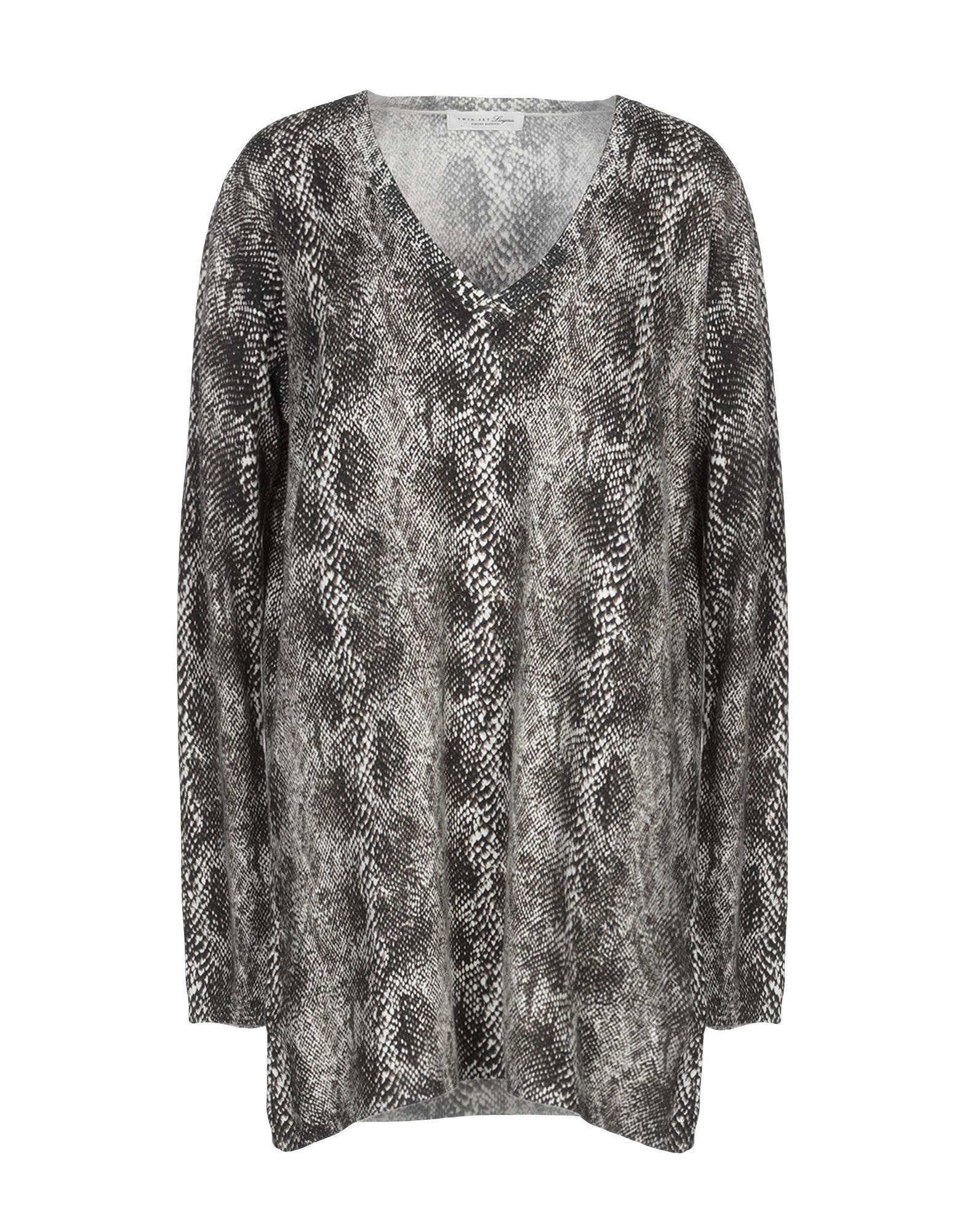 TWIN-SET LINGERIE Ночная рубашка black lace details v neck with no falsies lingerie set