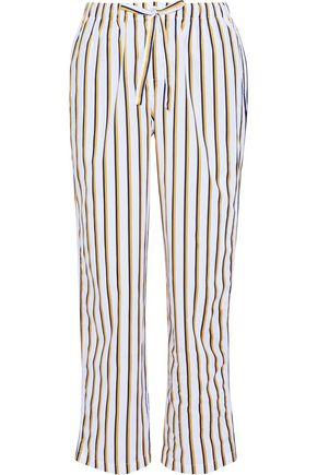 SLEEPY JONES Marina striped cotton-poplin pajama pants