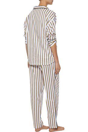 SLEEPY JONES ストライプ コットンポプリン パジャマシャツ