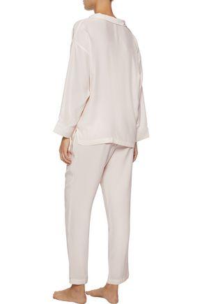 SLEEPY JONES Marina silk pajama top