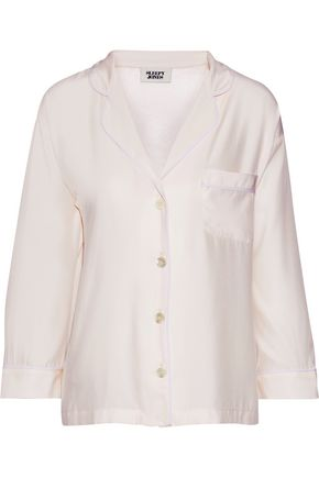 SLEEPY JONES Marina silk pajama top