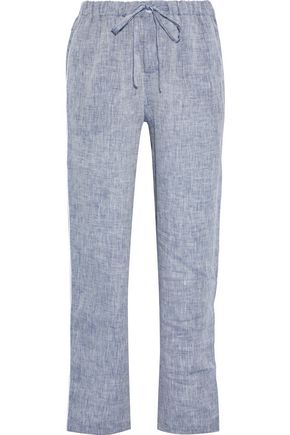 SLEEPY JONES Marina linen pajama pants