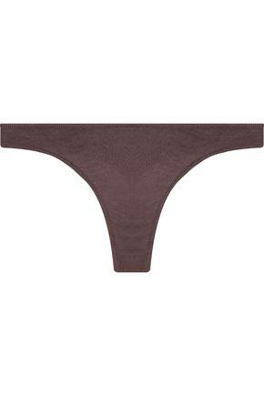 SKIN Pima cotton-jersey low-rise thong