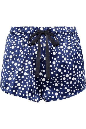 MORGAN LANE Martine polka-dot silk-charmeuse pajama shorts 4bc514763