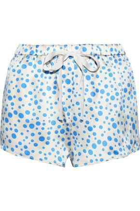 MORGAN LANE Martine polka-dot silk-charmeuse pajama shorts