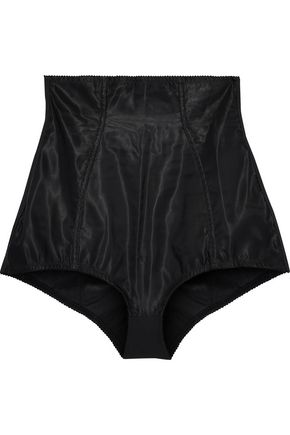 DOLCE & GABBANA Satin and stretch-jersey high-rise briefs