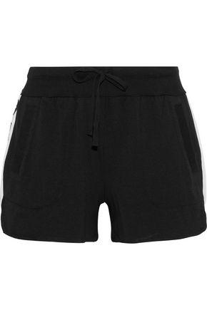 DKNY Appliquéd cotton-blend jersey pajama shorts