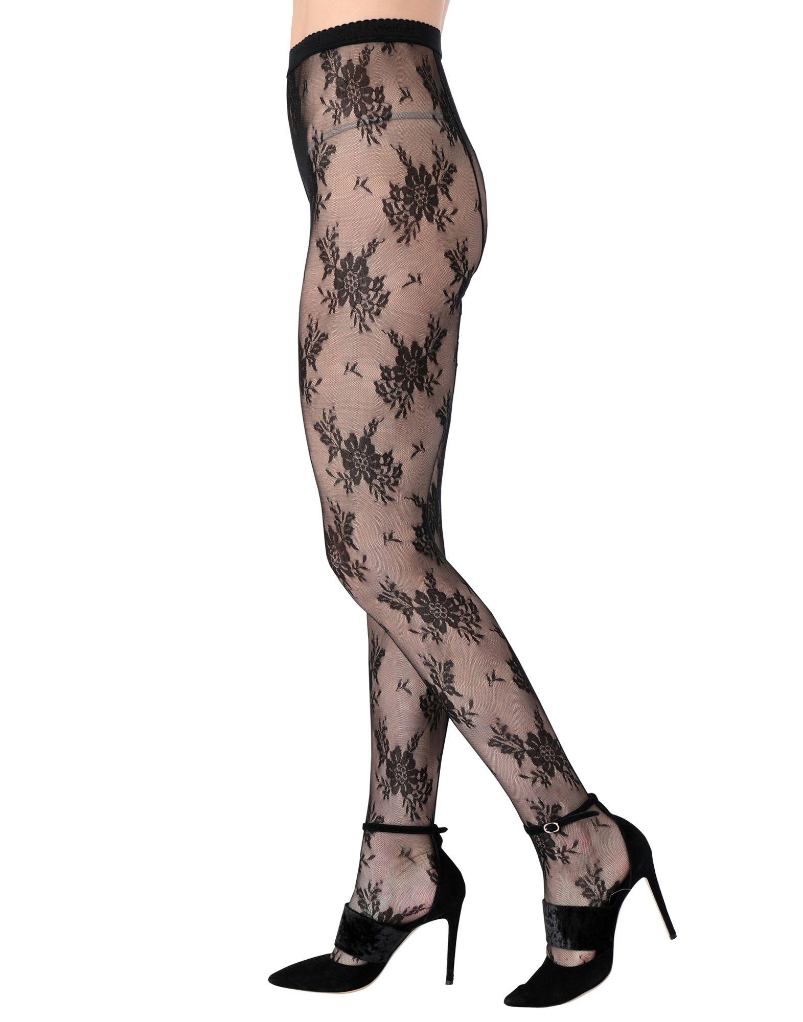 WOLFORD Короткие носки тюль сетка garden выс 290см цветочный рисунок с сиреневой каймой