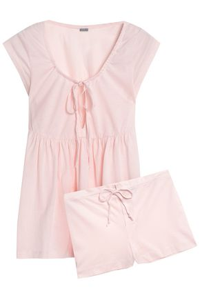 BODAS Cotton-jersey pajama set