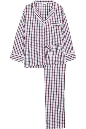 SLEEPY JONES Marina checked cotton-poplin pajama set