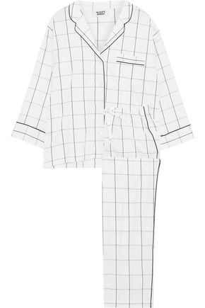 SLEEPY JONES Marina checked cotton pajama set