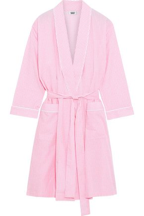 SLEEPY JONES Isa gingham cotton robe