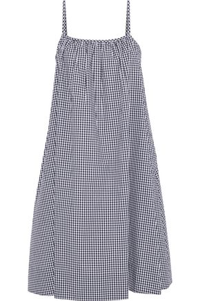 SLEEPY JONES Ingrid gingham cotton-poplin nightdress