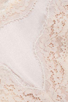 STELLA McCARTNEY Clara stretch-silk and lace briefs