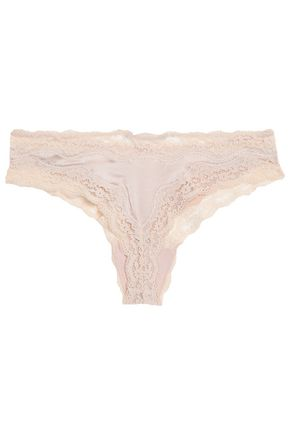 STELLA McCARTNEY Clara stretch-silk and lace briefs