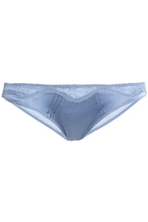 STELLA McCARTNEY Silk-blend satin low-rise briefs