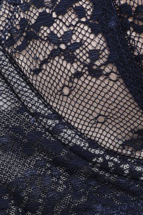HEIDI KLUM INTIMATES Lace and mesh-paneled balconette bra