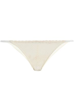 HEIDI KLUM INTIMATES Lace and mesh low-rise briefs