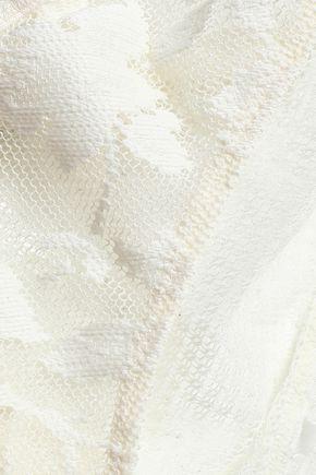 HEIDI KLUM INTIMATES Crochet-trimmed lace bikini briefs
