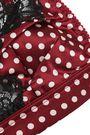 STELLA McCARTNEY Ellie Leaping lace-trimmed polka-dot silk-satin triangle bra