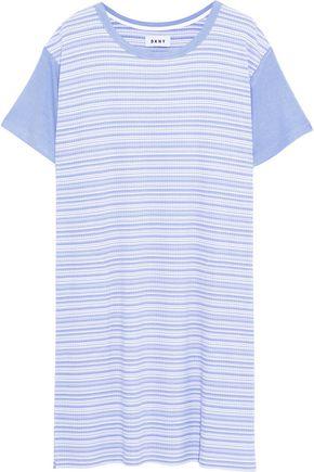DKNY Striped ribbed jersey nightdress