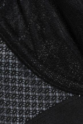 HEIDI KLUM INTIMATES Lace and mesh-paneled underwired bra