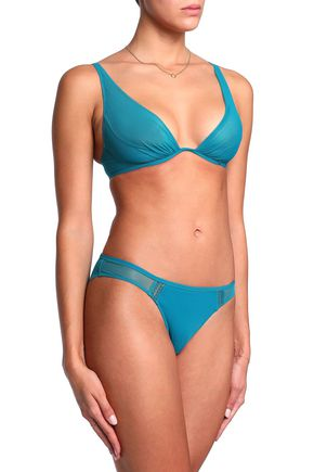 HEIDI KLUM INTIMATES Stretch-jersey and tulle low-rise briefs