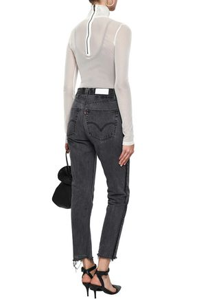 ALIX Stretch-mesh turtleneck bodysuit