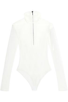 ALIX Stretch-mesh turtleneck bodysuit