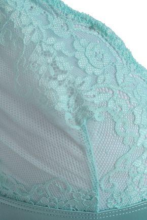 MIMI HOLLIDAY by DAMARIS Silk-trimmed lace triangle bra