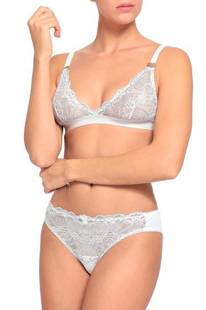 MIMI HOLLIDAY by DAMARIS Paneled lace mid-rise briefs