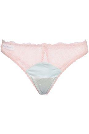 MIMI HOLLIDAY by DAMARIS Stretch-silk lace low-rise briefs