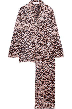 OLIVIA VON HALLE Lila Raelyn leopard-print silk-satin pajama set