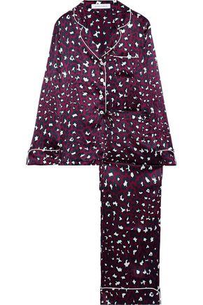 OLIVIA VON HALLE Lila Marilyn leopard-print silk-satin pajama set