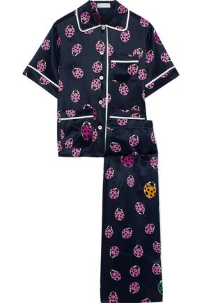 OLIVIA VON HALLE Lila Wendy printed silk-satin pajama set