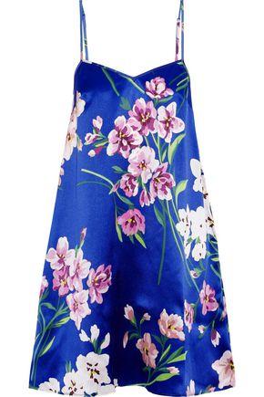 OLIVIA VON HALLE Mila Briella floral-print silk-satin nightdress