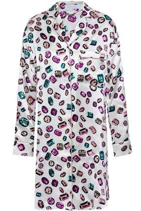 OLIVIA VON HALLE Yolanda printed silk-satin nightshirt