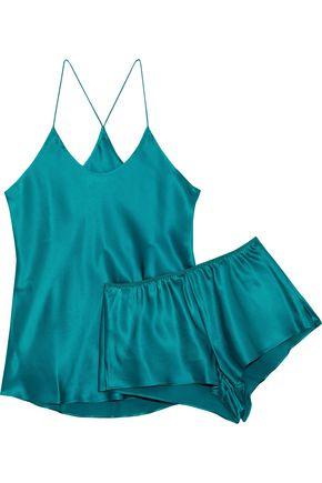 OLIVIA VON HALLE Bella Jade silk pajama set
