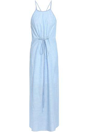 SKIN Juliana cotton-chambray nightdress