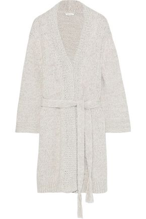 SKIN Kadia open-knit cotton robe