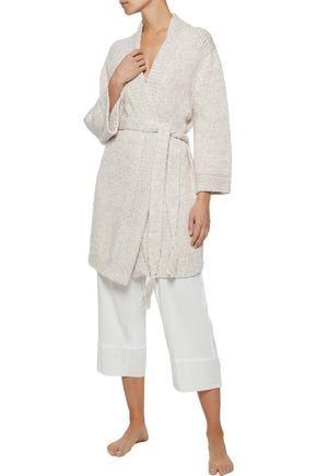 SKIN Kadia open-knit cotton robe