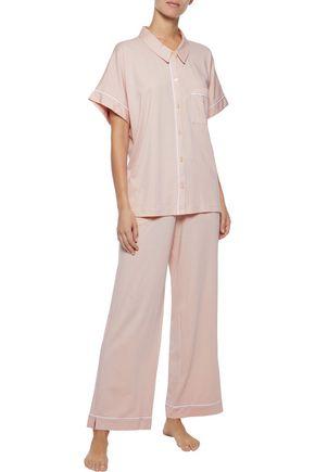 SKIN Modal and Pima cotton-blend jersey pajama top