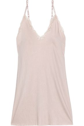 SKIN Corded lace-trimmed jersey nightdress