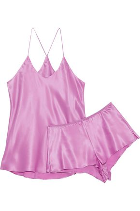 OLIVIA VON HALLE The Bella silk-satin pajama set