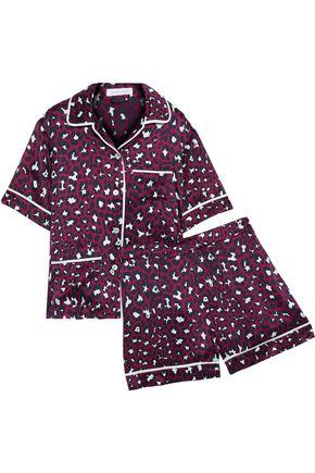 OLIVIA VON HALLE Millicent leopard-print silk-satin pajama set