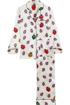 OLIVIA VON HALLE Lila Minny printed silk-satin pajama set