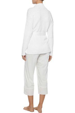 SKIN Fringed cotton robe
