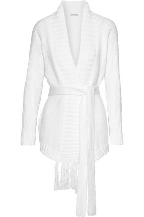 SKIN Fringed cotton robe
