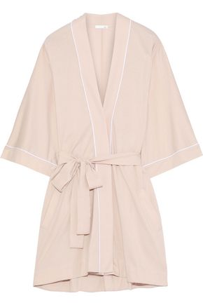 SKIN Pima cotton and modal-blend robe