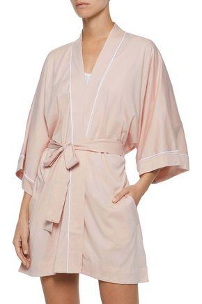 SKIN Pima cotton and modal-blend robe